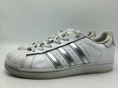 8D2 Adidas Superstar AQ3091 Lace Up Sneakers Fashion Walk Women Shoes Size  6.5 afd1bd9c5f
