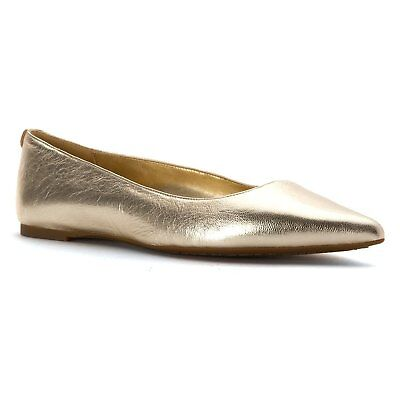 a1bff7359 MICHAEL Michael Kors Womens arianna Leather Pointed Toe Slide, Silver, Size  5.0