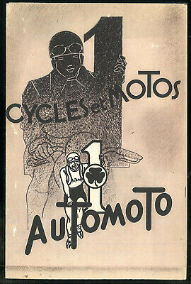 Catalogue AUTOMOTO 1935 Motos Vélomoteurs Cycles Vélos - Brochure Dépliant Moto