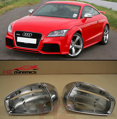 POLISHED ALUMINIUM MIRROR Covers FITS Audi TT 8J MK2 2007 2014 TTS TTRS UK  STOCK