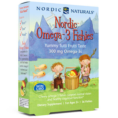 Nordic Naturals Omega 3 Fishies - Flavored Omega 3, DHA & EPA Gummies, 36 Ct
