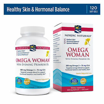 Nordic Naturals Omega Woman, Lemon - Evening Primrose Oil with Omega-3, 120 Ct