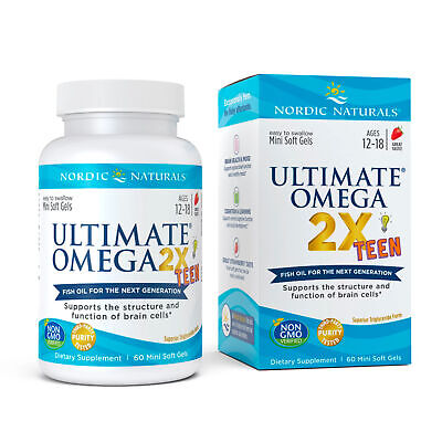 Nordic Naturals Ultimate Omega-2x Teen - Omega 3 Formula for Teenagers, 60 Ct