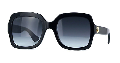 7ff7ced2d9d GUCCI GG0036S 001 54mm Square Black Women Sunglasses 100% UV ...