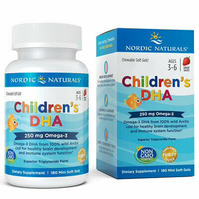 Nordic Naturals Children's DHA - Cognitive Development & Immune Health Soft Gels