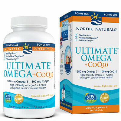 Nordic Naturals Ultimate Omega +CoQ10 - Support Overall Heart Health And Energy