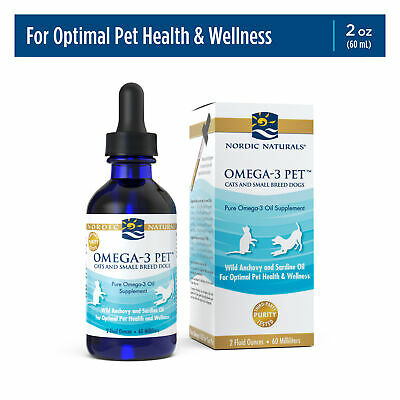 Nordic Naturals Omega 3 Pet - Omega-3s EPA & DHA Fish Oil For Small Dogs & Cats