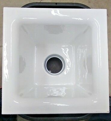 "Ceco, 908-3CA Porcelain Cast Iron Floor Sink 12""x12""x8"", 3"" Drain w/ Strainer"