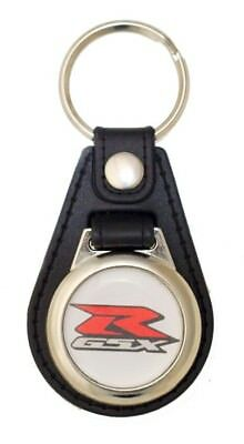Suzuki GSX-R Black Leather Style Keyring with GSX-R Logo (1065)
