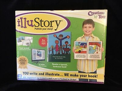 IlluStory Write and Illustrate Your Story and Make a Book Kit NEW Great Gift