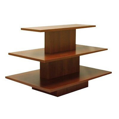 3 Tier Rectangular Walnut / Cherry Display Table Rack Stand NEW YORK PICKUP ONLY