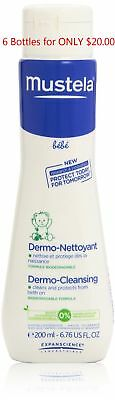 Mustela BeBe Dermo Cleansing Gel Baby Kids 6.76oz EX-07-2017 Qty 6 for ONLY $15