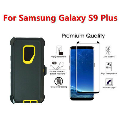 Samsung Galaxy S9 Plus Case Clip fits Otterbox Defender w/Screen Black Yellow