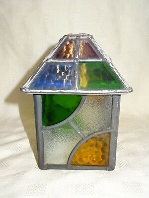 Vintage Attractive Coloured Leaded Glass Light Shade