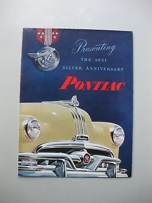 Pontiac Range folder brochure Prospekt English 1951 16 pages