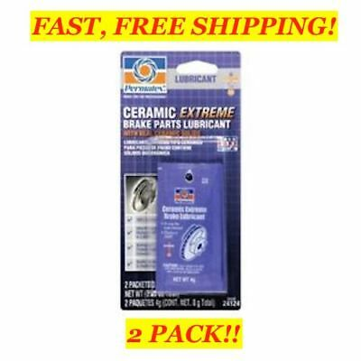 2 PACK! PERMATEX Ceramic Extreme Brake Parts LUBRICANT 8g, 24124, 4 PACKETS!
