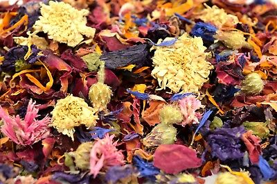 Evening Charm, Natural Wedding Confetti Mixed Colour Dried Flower Petals 1 Litre