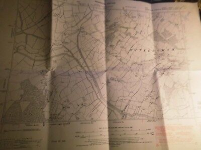 Oxney Isle,wittersham-Rother-Sussex,kent:vintage Planner Ordnance Map 1869-1951