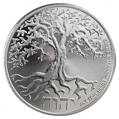 2018 Niue $2 Truth Coin Series - The Tree Of Life 1 oz .9999 Silver BU Coin