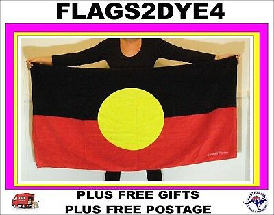 Aboriginal flag towel beach bath for child adult male female baby or toddler