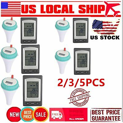 5PCS Wireless Thermometer In Swimming Pool Spa Hot Tub Waterproof Thermometer YW