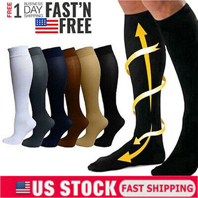 3 Pairs Compression Socks Support Stockings Graduated Men's Women's (S-XXL)