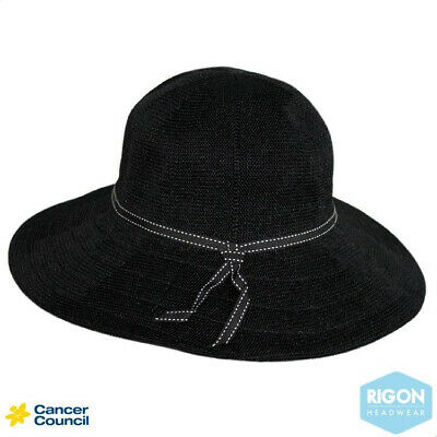 Cancer Council - Suzi Capeline Hat - Black