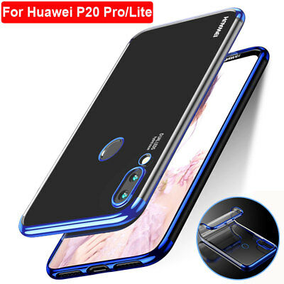 Crystal Plating Silicone TPU Shockproof Case for Huawei P20 Pro/Lite Phone Cover