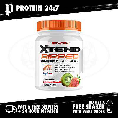 Scivation Xtend Ripped - 30 Serve (Free Scivation 2.2L Bottle & Funnel)