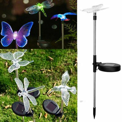 2PCS Colorful LED Solar Powered Light Garden Path Light Lawn Landscape Lamp JH