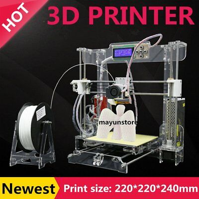 Tronxy P802M High Accuracy 3D Desktop Printer Prusa i3 DIY Kit LCD Screen TO
