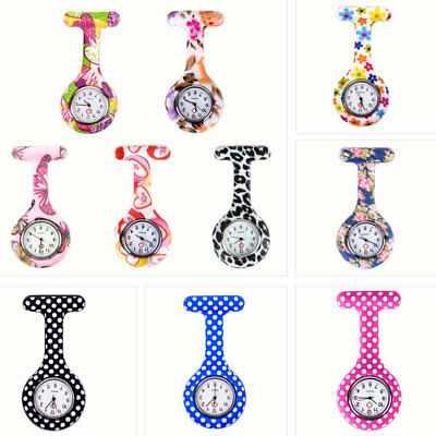 Mechanical Silicone Nurse Watch Brooch Tunic Fob Watches Gift with Free Battery