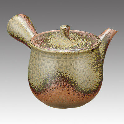 Tokoname Kyusu teapot -ISSIN -Iraq glaze 350cc/ml -Refresh stainless steel net