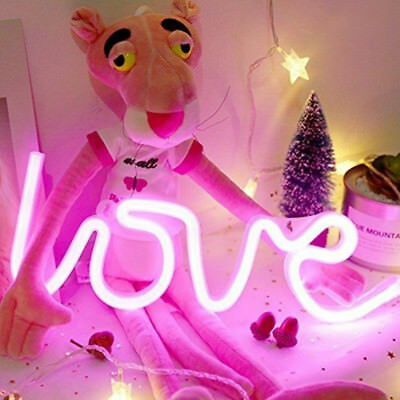 Neon Love Heart LED luz de la pared muestra noche Beer Bar Lamp Pub Party Decor