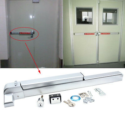 """Push Bar Panic Exit Device Emergency Latche Hardware Commercial Fit 30""""-36"""" Door"""