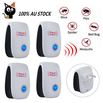 4X Ultrasonic-Electronic-Pest Repeller Mouse Rat Mosquito Insect Rodent Killer