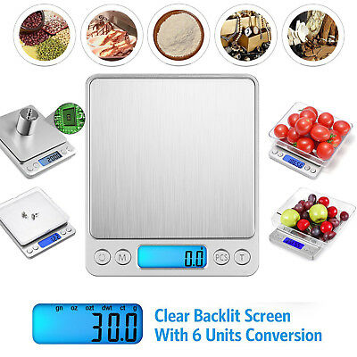 LCD Electronic Kitchen Scale 500/0.01g Digital Balance Food Weight Postal Scales