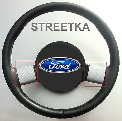Ford Streetka Steering Wheel Spoke Trims (2003-05)- Silver Carbon Fibre Effect
