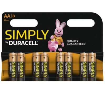 Genuine Original Duracell Aa Simply Battery Pack Of 8