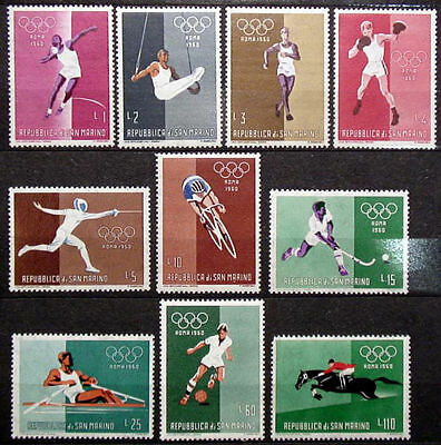 SAN MARINO 1960: OLYMPICS ROME COMPLETE SERIES NEW MHN Olympic games