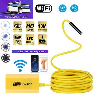 2-10m WiFi Endoscope Snake Inspection Camera Borescope HD Cell Phone Android iOS