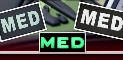 Ready to patch 3D Rubberpatch Medic MED Patch Swat u. Glow in the dark