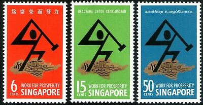 Singapore 1968 National Day set of 3 Mint Unhinged