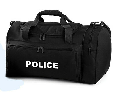 1 x POLICE black Holdall/Work Bag Ideal for Police PCSO 2 Free Police pens