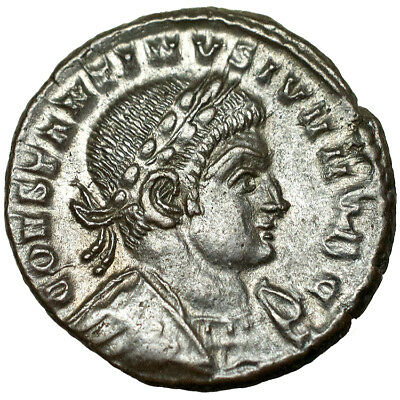 Constantine II. Ae 4. Lugdunum. 337-361 A.D..   Extremely Fine & rare.  2392.
