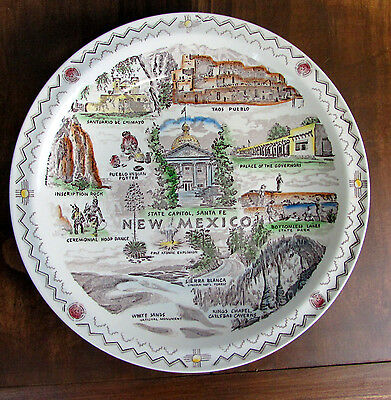 Vernon Kilns New Mexico State Collector Plate Paul L. Davidson 10-1/2""