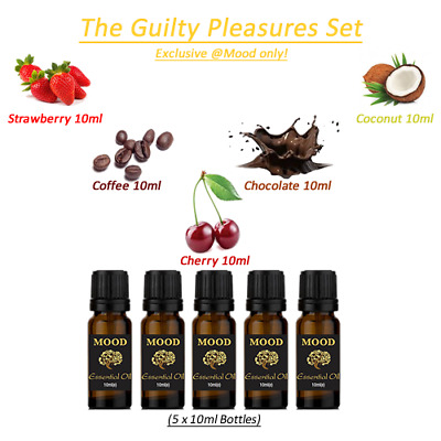Essential Oils Set Guilty Fragrance Strawberry Coffee Chocolate Coconut Cherry
