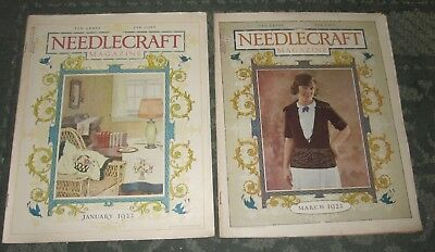 2 January 1922 And March 1922 Publications - Needlecraft