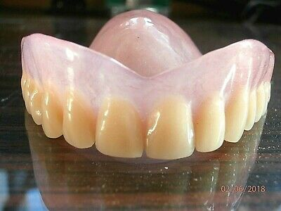 FULL acrylic DENTURES UPPER and LOWER  False Teeth example students collection