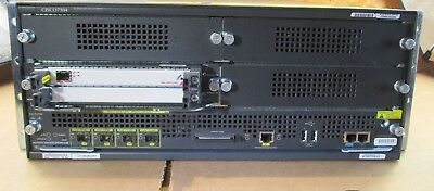 Cisco 7304 Router Chassis w/ Dual 7300-PWR-AC, C7304-NSE-150, and 7304-MSC-100